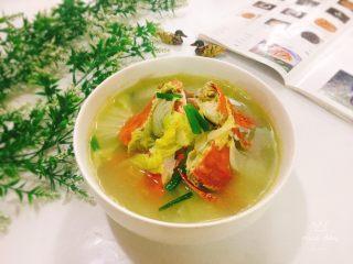 螃蟹白菜汤,成品图