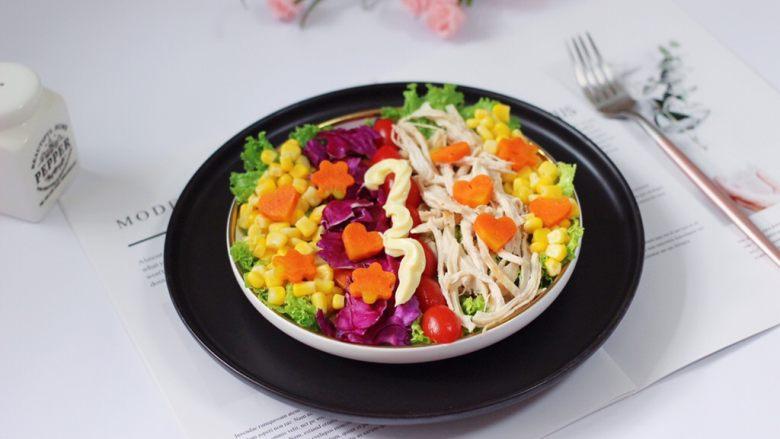 鸡胸肉时蔬沙拉