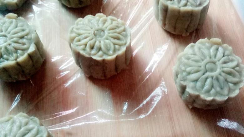 金陵茶点一蚕豆糕,做好的蚕豆糕。