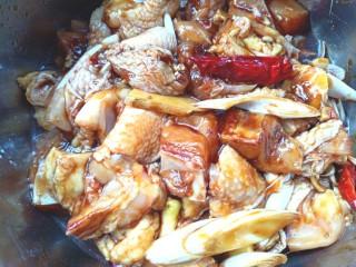 蒸香菇鸡,搅拌均匀,腌制3个小时