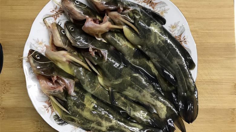 春笋汪丁鱼汤,先把买来的汪丁去掉内脏后清洗干净。