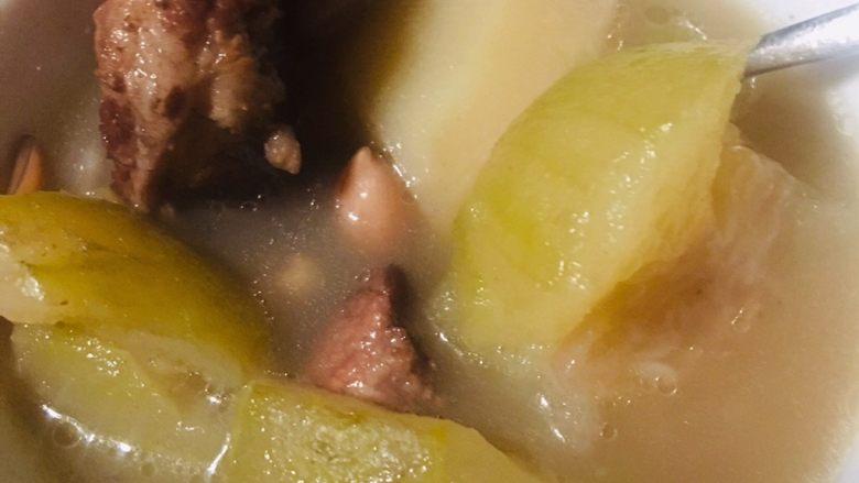 夏天汤水--猪骨眉豆节瓜汤