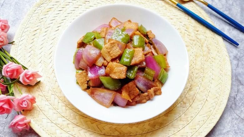 青椒洋葱炒肉片,超级好吃的下饭菜。