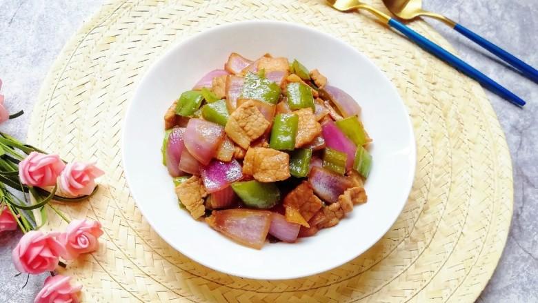 青椒洋葱炒肉片,成品。