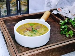咖喱鸭血粉丝汤,宝贝的最爱。