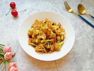 豆豉酱炒有机菜花