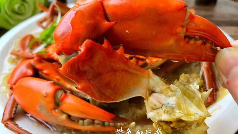 粉丝蒸青蟹,美味的粉丝蒸青蟹做好了,超级鲜美哦。