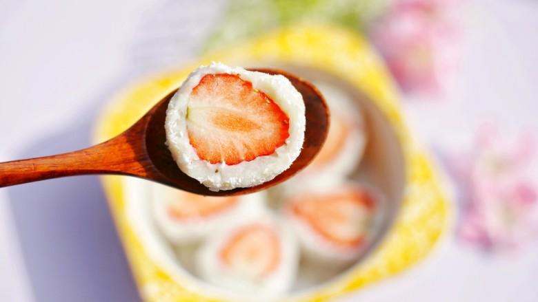 甜糯小可爱草莓大福,来一个~