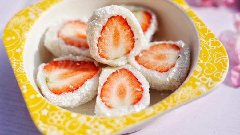 甜糯小可爱草莓大福,超赞~
