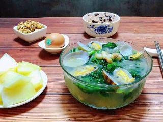 小白菜蚬子汤,营养早餐是开启幸福一天的动力