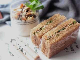 全麦红糖吐司(一键式)+金枪鱼芹菜三明治