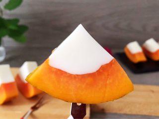木瓜椰奶冻,成品图!