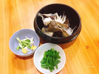 姜葱炒螃蟹,食材处理妥妥的