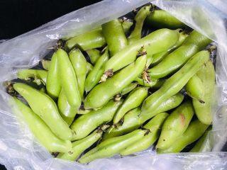 煮蚕豆,菜场买回来的新鲜蚕豆