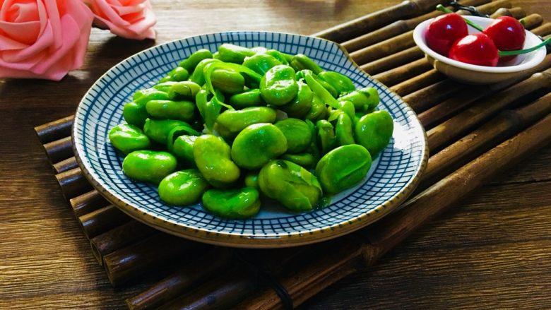 煮蚕豆,成品图