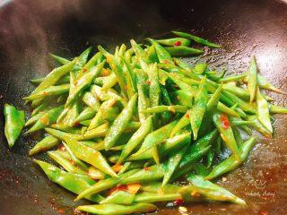 酱爆刀豆,最后加适量白糖后即可出锅