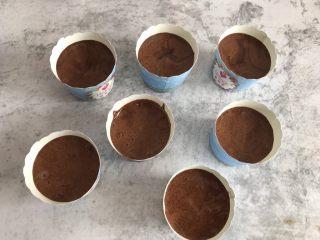 巧克力纸杯蛋糕,倒入纸杯中,放入提前预热好的烤箱上下火160度烤20分钟