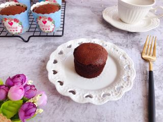 巧克力纸杯蛋糕,成品