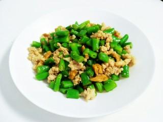 萝卜干炒四季豆肉沫