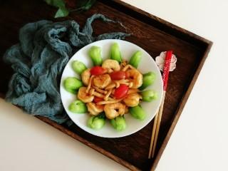时蔬烩虾球,清香不油腻 立夏美食