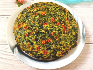 煎海藻鸡蛋饼,成品图