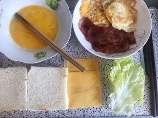 快手早餐,准备好所需食材