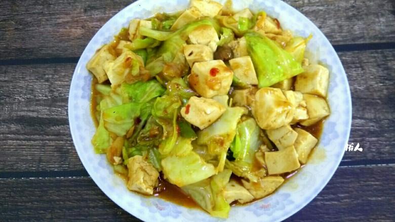 包菜烧豆腐