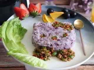 紫薯麦粒米饭