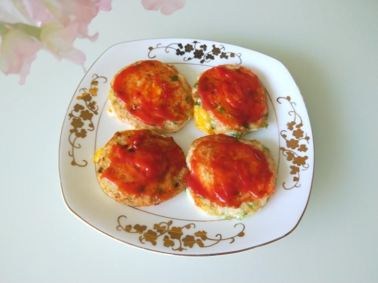米饭鸡蛋鲜虾饼