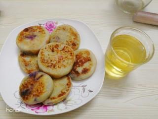 山药紫薯素饼