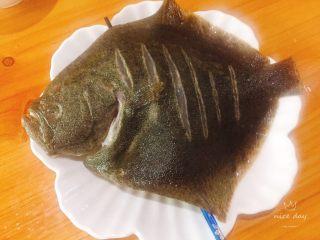 清蒸多宝鱼,腌制好的多宝鱼