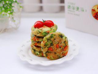 低脂杂粮谷物时蔬饼