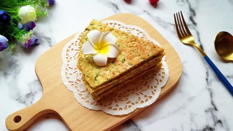 蒜苔尖鸡蛋饼