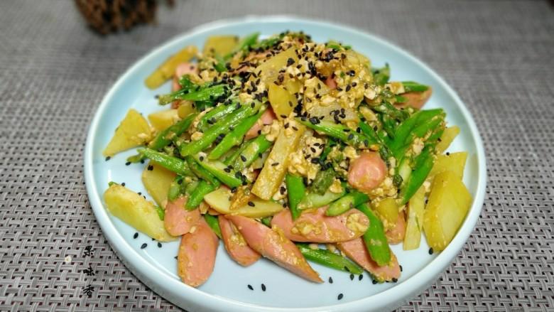咸蛋芦笋火腿焗土豆