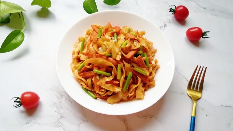 蔬菜火腿炒刀削面