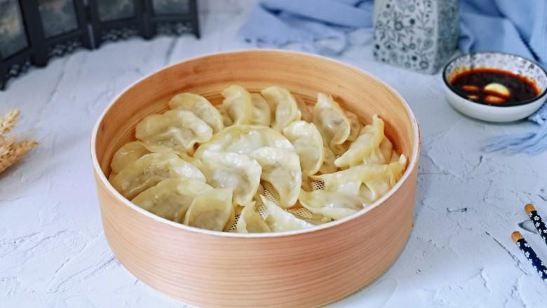 葱香鲜肉蒸饺