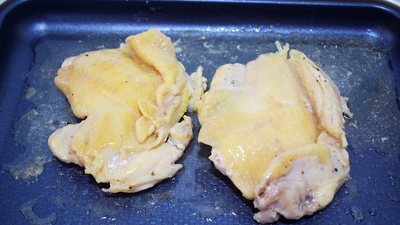 照烧鸡腿饭,再翻面继续煎至表面微黄