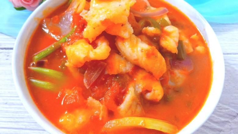 番茄龙利鱼,鱼鲜,味美,汤浓郁
