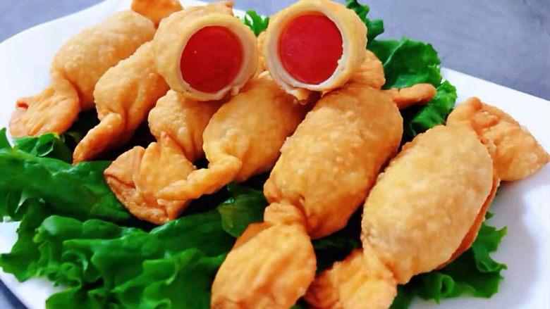糖果肠饺,宝宝肠一切为二看着就超级有食欲