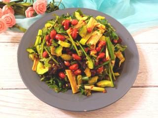 黄瓜腐竹大拌菜,香辣爽口的大拌菜
