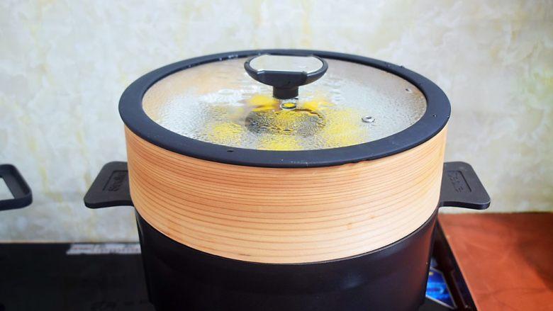 香菇蒸鹌鹑蛋,大火蒸10分钟