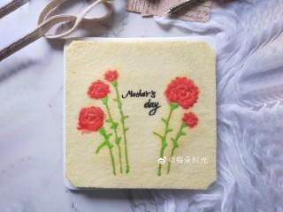 母亲节—康乃馨彩绘蛋糕