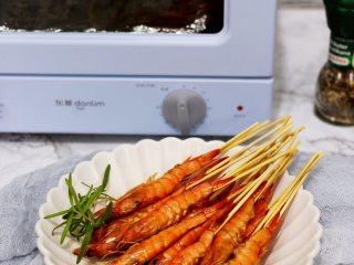 意大利风味烤虾,成品图