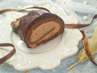 脆皮巧克力蛋糕卷