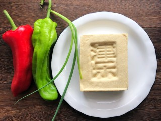 炒脆皮豆腐,准备食材