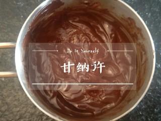 脆皮巧克力蛋糕卷,隔水融化后就是甘纳许了