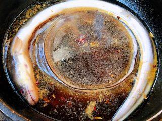红烧海鳗,添加适量清水放入海鳗