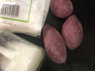 紫薯甜饼,主要材料