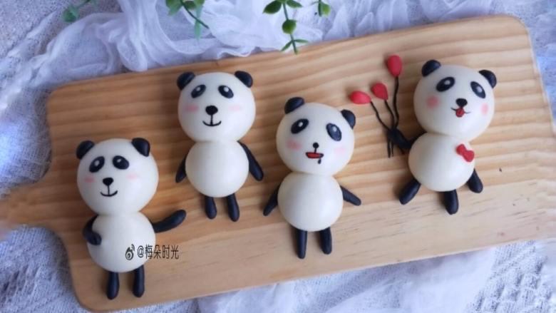 卡通馒头—小熊猫馒头