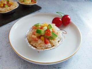时蔬米饭芝士挞